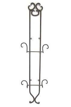 Wrought Iron Rustic Wall Hanging Double Plate Holder Rack Hanger Display Country  sc 1 st  Pinterest & Vintage Royal Standard \
