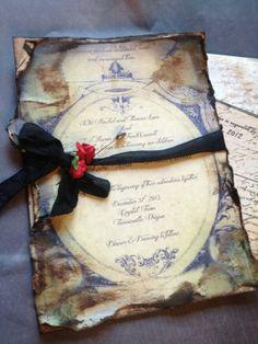 Vintage Wedding Invitation by ShabbyScrap on Etsy, $4.00