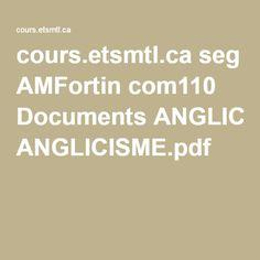 cours.etsmtl.ca seg AMFortin com110 Documents ANGLICISME.pdf France, Language, French