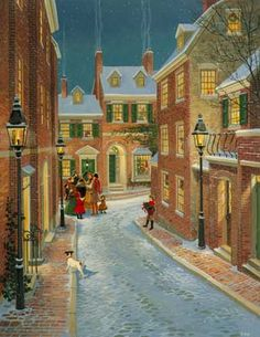 Beacon Hill Carolers ~ by Charlotte Joan Sternberg
