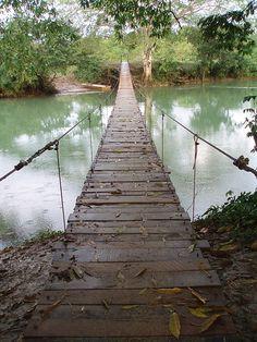 Bridge from San Ignacio to Santa Elena (by Rachel and Hugh)  San Ignacio, BELIZE