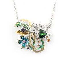 Jungle Paradise Bird Pendant | Fashion Jewellery - Bill Skinner