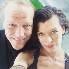 Fight against the darkest force and #Zombies  #ResidentEvilFinalChapter behind the scenes selfies.
