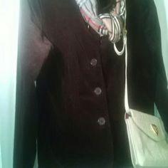 AMI*Brown 98%Corduroy Button Blazer 2%Spandex AMI*Dark Coco Brown 98%Corduroy 3 Button Front Blazer 2%Spandex...So Cute with dress IR Jeans A.M.I. Jackets & Coats Blazers
