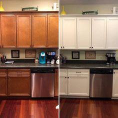 Simple Kitchen: 60 Beautiful and Cheap Decoration Tips! Eat In Kitchen, Kitchen Paint, Kitchen Ideas, Kitchen Designs, Funny Kitchen, Kitchen Counters, Updated Kitchen, Room Kitchen, Kitchen Tips