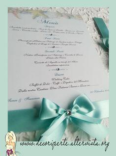 TIFFANY WEDDING MENU' - SEA THEME menu' matrimonio TIFFANY - tema mare