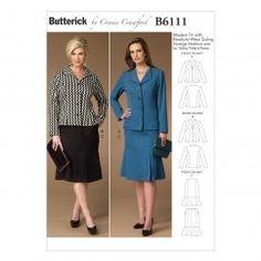 B6111 Misses'/Women's Jacket and Skirt (size: XSM-SML-MED-LRG-XLG)