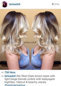Amazing blonde melt - love everything on this Instagram account !