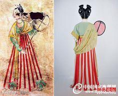 披帛:壁画是隋朝的。