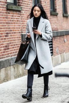 Street Style: An Inspiring Black And Grey Ensemble To Test-Drive Now