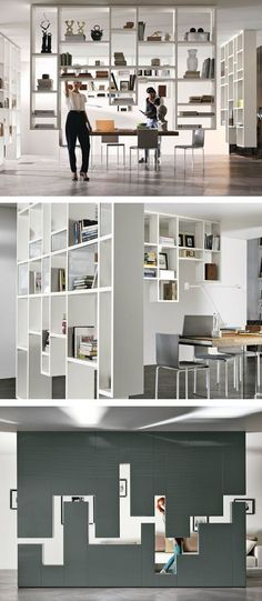 Divider wall-mounted storage wall 30mm / LAGOLINEA WEIGHTLESS by Lago | #design Daniele Lago @lagofurniture