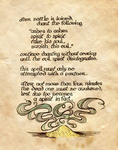 "Book of Shadows:  ""To Vanquish A Ghost And Return Him To His Rest II,"" by Charmed-BOS, at deviantART."