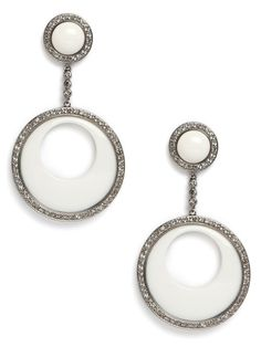 Dial it back it the era of Courrèges and Cardin with these glam Mod earrings. They're sleek and chic and, with the glittering pavé crystals, supremely glamorous, too.