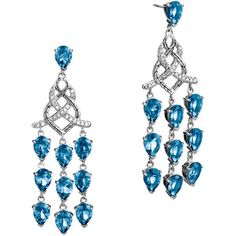 Classic chain collection chandelier earrings with london blue topaz john hardy mozeypictures Gallery