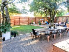 Top 20 Before & Afters of All Time: The Little NoPo Farmhouse Yard – Design*Sponge Pea Gravel Patio, Gravel Landscaping, Backyard Patio, Landscaping Ideas, Stone Backyard, Gravel Driveway, Modern Backyard, Outdoor Spaces, Outdoor Living