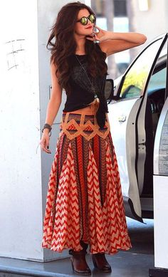 Women's Clothing Discreet Jane Ashley Boho Maxi Drawstring Skirt Vacation S Medium Travel Clothing, Shoes & Accessories