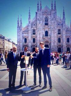 Representantes de los equipos    Final  Four  2014  Milan