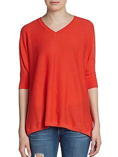 sweet romeo Dolman Sleeve Sweater in tangerine