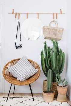 decorar con cactus recibidor