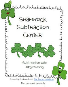 Free subtraction with regrouping center. Students have to determine. If they have to regroup, and then solve a few!