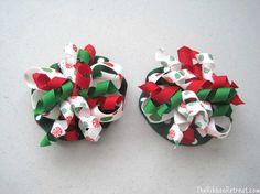 DIY Christmas Ruffle Bows