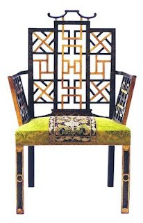 Gorgeous Chinese chippendale chair , C.1790, owned by Anne Getty and Associates. Whoa... this is fabulous!