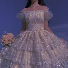Korean Aesthetic, Blue Aesthetic, Ball Dresses, Ball Gowns, Pretty Dresses, Beautiful Dresses, Korean Outfit Street Styles, Glitter Outfit, Fantasy Gowns