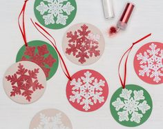 It's time to start trimming the tree! DIY ornaments from #marthastewartcrafts