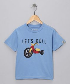 Take a look at this Blue 'Let's Roll' Tee - Infant, Toddler & Boys by Dogwood on #zulily today!