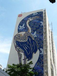 Deux fresques géantes de street art dans le 13e arrondissement de Paris  http://www.pariscotejardin.fr/2014/06/deux-fresques-geantes-de-street-art-dans-le-13e-arrondissement-de-paris/