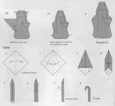 Resultado de imagen de como hacer un belén en origami