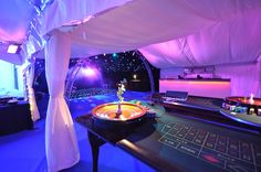 18th Birthday Party Marquee with Casino Tables