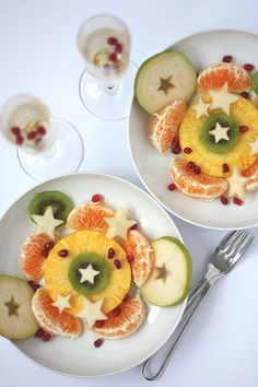 For Oscar night! Fruit salad and champagne......not martha — 2013 February
