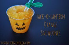 Homemade Orange Snow