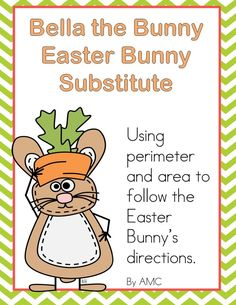 Idea for area and perimeter with an Easter theme - freebie. Writing Activities, Easter Activities, Class Activities, Holiday Activities, Third Grade Math, Grade 2, Fourth Grade, Teaching Math, Teaching Ideas