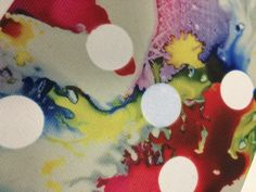 Dot resist on dye sublimation. Fabric Print & Textile Lab - University of Portsmouth.