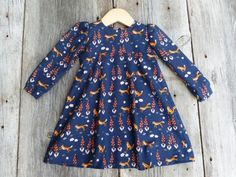 Organic baby clothes, Fox baby, Fall baby dress,Woodland baby girl, Winter toddler dress, Baby gift, Bohemian baby dress, Boho baby clothes