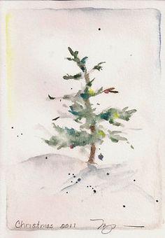 Inspiration Lane...beautiful watercolor tree   /// my kind of tree, cute