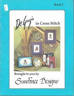DeGrazia In Cross Stitch Southwestern 1982 Counted Cross Stitch Sundance Designs #CrossStitchNeedlework