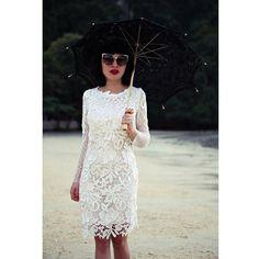 Take your lace dress on a sunny beach. Flashback moment with @anamorodan looking gorgeous in #parlordress #handmade #demicouture #details #lookoftheday #glam #fashiongram #summer #ido #followthebuyers #mfw #dubaifashion #weddingplanning #weddinginspiration #bridalweek #readyforparty
