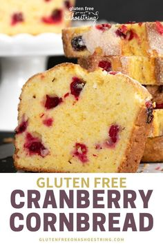 The Perfect Thanksgiving Recipe- GF Cranberry Cornbread Looking for a tasty recipe that will wow your guests this Thanksgiving? Gluten Free Cranberry Cornbread is the perfect mix of sweet and tart and is sure to be a holiday favorite! Keto Friendly Desserts, Low Carb Desserts, Gluten Free Desserts, Cookies Sans Gluten, Dessert Sans Gluten, Gf Recipes, Gluten Free Recipes, Dessert Recipes, Cranberry Recipes Gluten Free