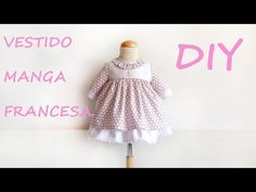 Patrón Vestido manga francesa. Patterns of children - YouTube Sewing Baby Clothes, Baby Sewing, Doll Clothes, Little Girl Dresses, Little Girls, Girls Dresses, Baby Dress Patterns, Sewing Patterns, Baby Girl Fashion