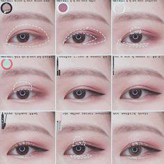 Korean eye makeup tutorial #makeuptutorial #stepbystep #howto #koreanmakeup #kbeauty