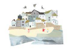 Clover Robin, summer, sea side, collage, design, texture, illustration
