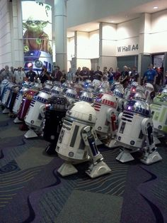 R2-D2 and Friends: A Gathering of Astromech Droids. #starwars