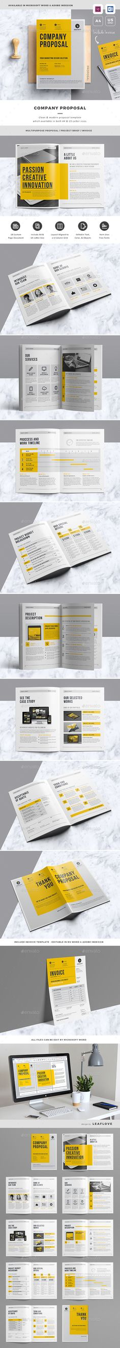Clean Inbound Marketing Proposal u2014 InDesign Template #seo - project manual template