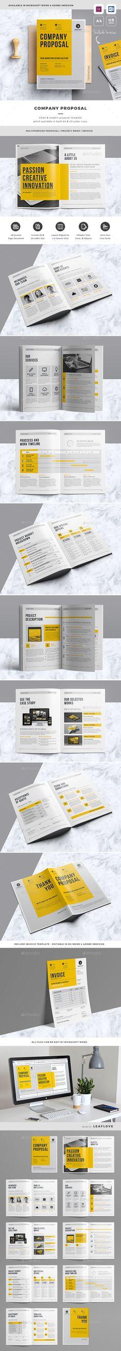 Clean Inbound Marketing Proposal u2014 InDesign Template #seo - marketing proposal templates