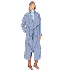 This new sewing pattern from Butterick features a cape option and a blanket coat option. Both are fast and easy to sew. B6250, Misses' Jacket, Coat and Wrap