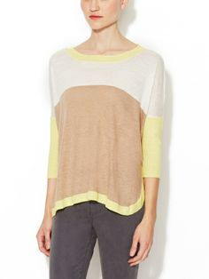 Linen Oversized Colorblock Sweater by Firth on sale now on Gilt.