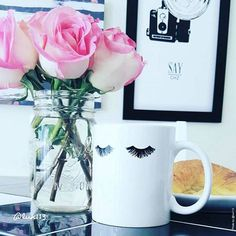 Eyelashes Glam Mug | Doesn't everything taste better in a glam mug?